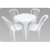 Conjunto De Mesas E Cadeiras De Plástico Bistrô -unica 140kg