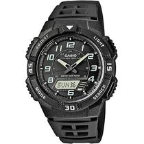 Relógio Casio Aq S800 Preto Resina Tough Solar 5alar Aqs800
