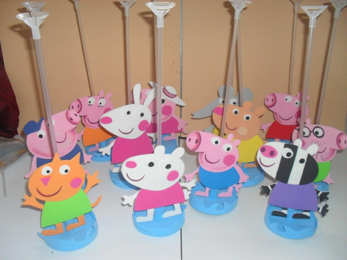 10 centros mesa peppa pig lembrancinhas r 35 00 r 35 00 for Mesa de peppa pig