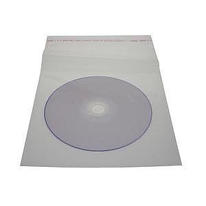 100 Envelopes Plasticos Para Cd/dvd Com Aba Adesivada