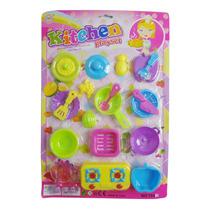 Kit Cozinha Infantil Para Crianças Brinquedo Miniatura
