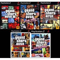 Gta Vice City Para Playstation 2 (kit 5 Jogos Ps2