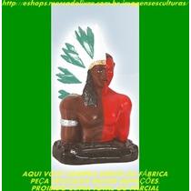 Escultura Busto Caboclo Xoroquê 30cm Imagem Melhor Preço Ml