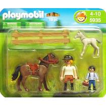 5935 Playmobil Country Amazonas E Criança Com Montarias