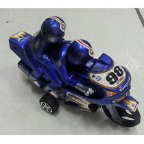 Brinquedo Moto De Fricção Com Boneco Encima