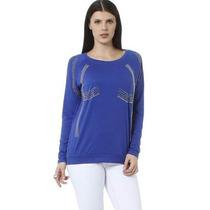 Cotton Colors Extra - Elegante Pullover Azul Royal - 44 (g)