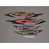 Kit Adesivos Honda Cg Titan 125 Es 2001 Vermelha