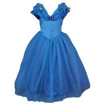 Fantasia Cinderella 2015 Azul Vários Tamanhos Pronta Entrega