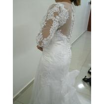 Vestido De Noiva Sereia Longo Casamento - Pronta Entrega
