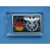 Medalha Barra Alemanha Bundesrepublik - Banho Prata Acrilico
