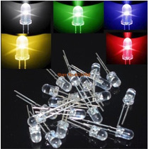 Diodos Led Bright 5 Mm Emissor De Luz 90 Pcs 10 Pcs Brinde