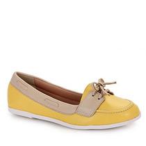 Sapato Dockside Feminino Sua Cia - Amarelo
