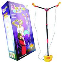 Microfone Menino Infantil Com Pedestal Karaokê Duplo