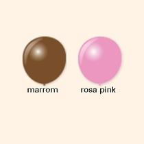 Balão Art-latex Nº7 Rosa Pink E Marrom - 200 Unidades