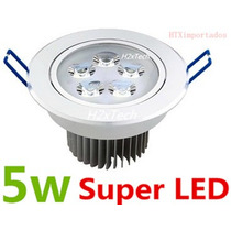 Kit Spot Super Led Direcionável 5w Para Instalar No Teto