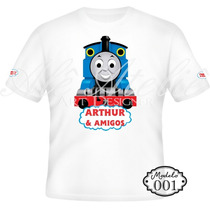 Camisa Camiseta Blusa Personalizada Thomas E Seus Amigos