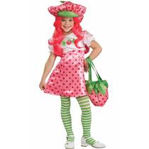 Fantasia Moranguinho Infantil Vestido E Chápeu Original