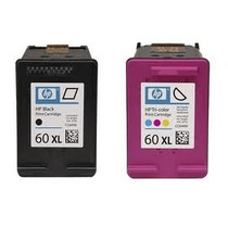 Cartuchos Hp 60xl Preto + Color Originais Com Mais Tinta !!