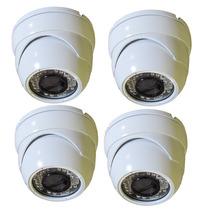 Kit 4 Cameras Hdcvi 1.0mp 720p Infravermelho Plat. Intelbras
