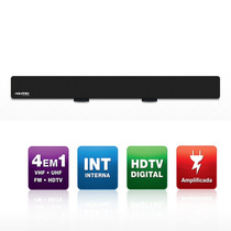 Antena Digital Aquario Dtv-2600 Amplificada Vhf Uhf Fm Hdtv