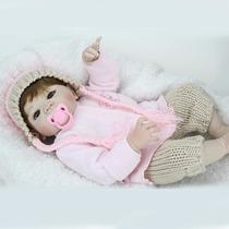 Toda De Silicone 55 Cm Boneca Bebe Reborn Victoria