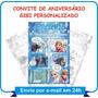 Arte Convite Gibi Aniversário - Frozen