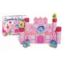 Castelo Princesa 3d Quebra Cabeça Madeira Pedagógico