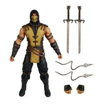 Mortal Kombat X: Lote C/ 3 Scorpion, Raiden, Subzero - Mezco