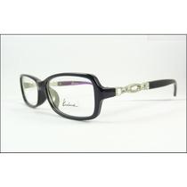 Armação Oculos Grau Preta Com Cristais Muita Linda - A593