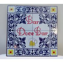 Quadro Bar Cozinha Churrasqueira Bar Doce Bar Imita Azulejo