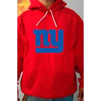 Moletom New York Giants Vermelho Futebol Americano Canguru