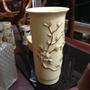 Vaso Antigo Em Porcelana Decoração Filetes De Ouro