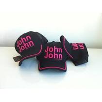 Bone John John Original Preto E Rosa A Pronta Entrega