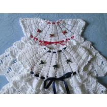 Vestido Em Crochê Feito Em Linha - Moda Verão Para Bebê