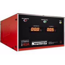 Carregador De Bateria 12v 40-ah Com Amperimetro Digital