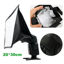 Difusor Softbox Universal Flash Soft Box Canon Nikon 20x30cm
