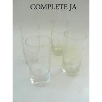 Jogo De 4 Copos Longo Em Cristal Lapidado Bolinha