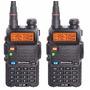 Kit 2 Rádio Dual Band Baofeng Uv-5r 136-174/400-520 Mhz Fone