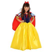 Fantasia Princesa Branca De Neve Luxo Rubi Sulamericana