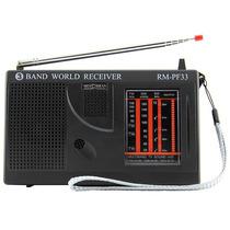 Rádio Portátil 3 Faixas Fm/om/oc Motobras Rm-pf33 Som De Tv