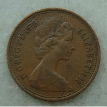 2142 Inglaterra 2 New Pence, 1978 , Bronze, 26 Mm, Elizabeth