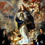 Imagem Sacra Virgem Maria Anjos 1661 Pintor Leal Repro Tela