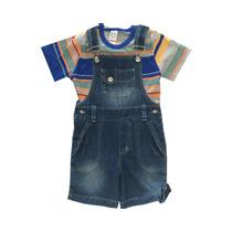 Macaquinho Jeans Infantil Masculina Tamanho 6 Pronta Entrega