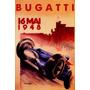 Bugatti 1948 Corrida Carro Italiano Vintage Poster Repro