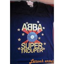 Camiseta Abba Banda Grupo Anos 70 80 - Lana Camisetas Super1