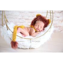 Conjunto Newborn Leaozinho - Bebê Leão Prop Fotografia