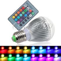 Lâmpada Bulbo Led Rgb 10w E27 110~220v + Controle ( Linda)