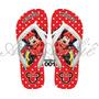Sandálias Chinelos Havaianas Personalizadas Disney Minnie