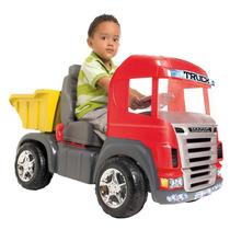 Caminhao Truck Carro A Pedal Cabine Magic Toys Frete Gratis