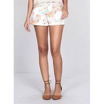 Shorts Floral Feminina Equus - Jeans
